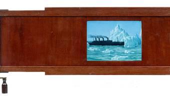 So sah man in der Laterna magica das Zusammentreffen mit dem Eisberg. zvg