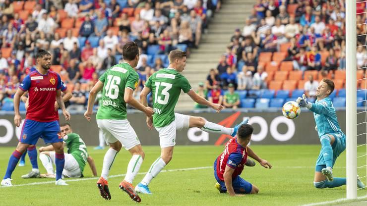 Der FC St. Gallen erzielt das 1:0.