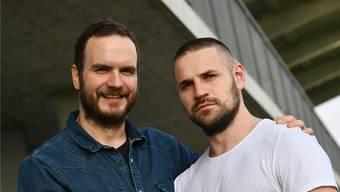 Rares Jurca und Bruno Kozina sorgen gemeinsam im Rückraum des RTV Basel für Gefahr.