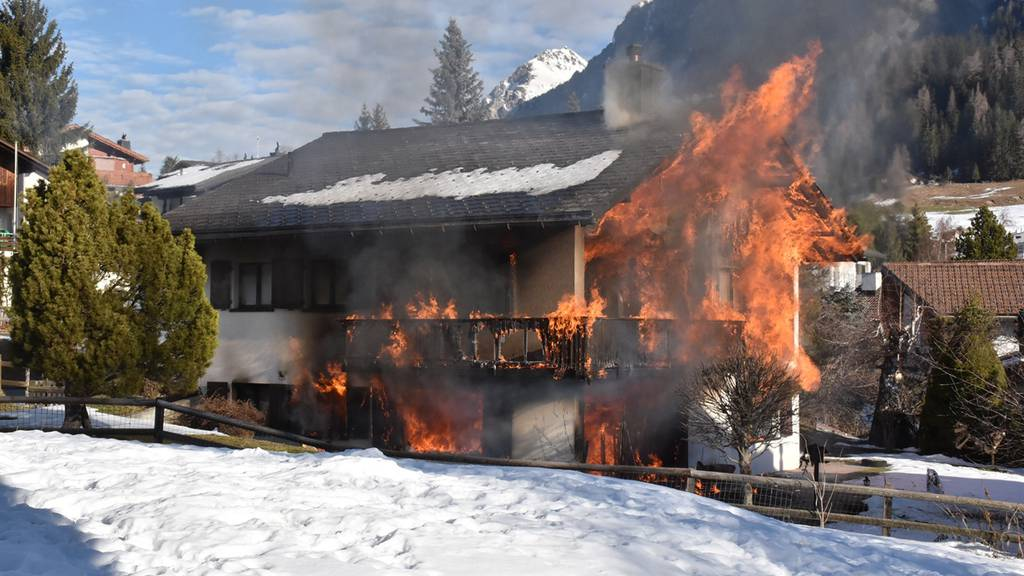 Wohnhaus in Lantsch komplett abgebrannt
