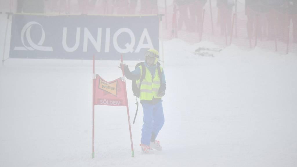 Ob der Slalom überhaupt stattfindet war eine Zitterpartie.