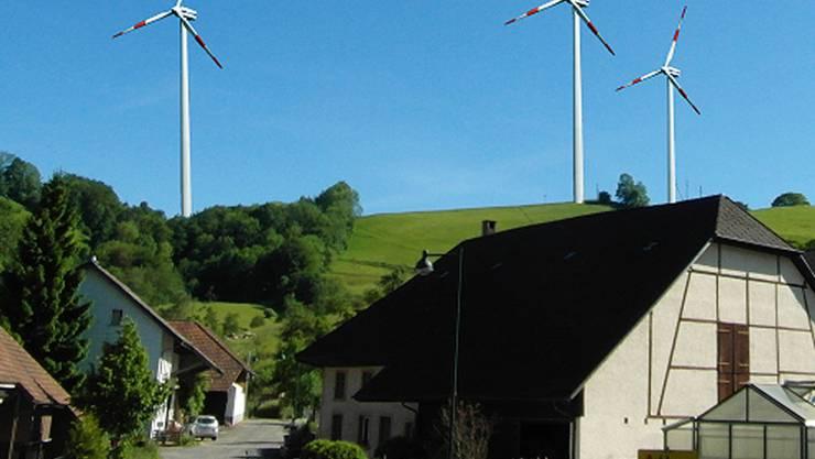 So würde Wisen in der Animation mit Windpark aussehen.