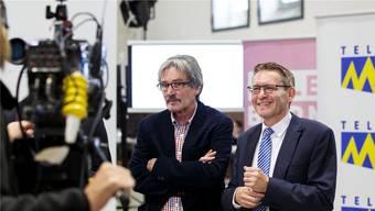 Roberto Zanetti (SP) und Pirmin Bischof (CVP, rechts) wollen den Kanton weiterhin im «Stöckli» vertreten.