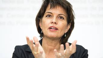Bundespräsidentin und Energieministerin Doris Leuthard.