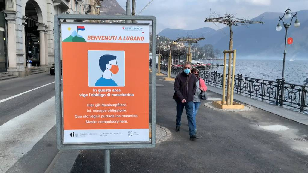 Auch Lugano verhängt Maskenpflicht