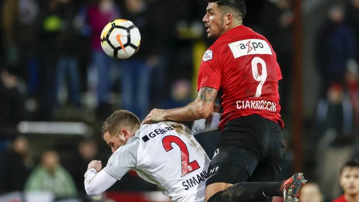 Denis Simani (Rapperswil) gegen Alessandro Ciarrocchi (Aarau).