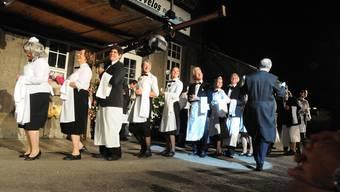 Am Stadtfest 2012 begeisterte die Truppe ChropfChrötte die Besucher mit dem Klamauk-Stück «Grand Hotel Kriesi» in «Little Wettige».