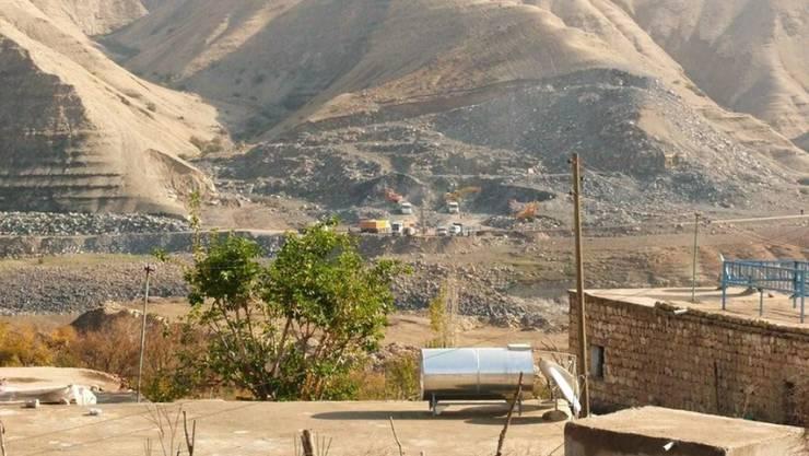 Arbeit am umstrittenen Ilisu Staudammprojekt am Tigris bei Hasankeyf im Osten der Türkei. (Archivbild)