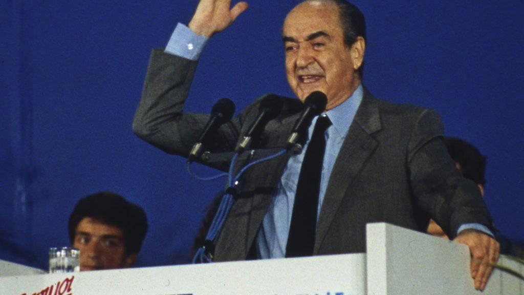 Hat die Politik seinen Kindern weitervererbt: Griechenlands ehemaliger Regierungschef Konstantinos Mitsotakis ist 98-jährig gestorben. (Archivbild)