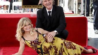 Sie sind erst das dritte Schauspielerpaar, dem gleichzeitig Sterne auf dem Walk of Fame überreicht worden sind: Goldie Hawn und Kurt Russell.