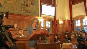 Stadtpräsidentin Corine Mauch (SP) vertrat ihr Anliegen gestern im Kantonsrat.