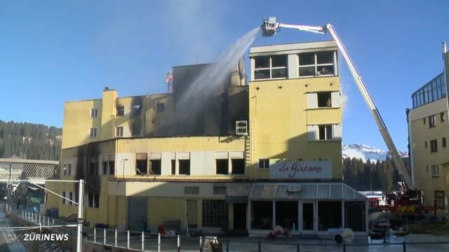 Posthotel Arosa komplett zerstört