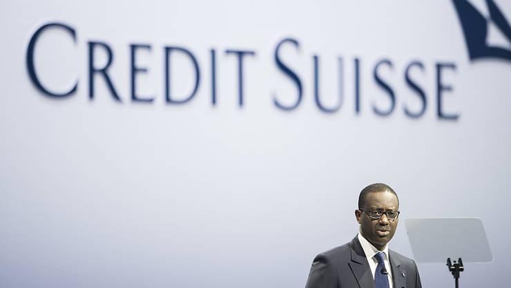 Credit Suisse-Chef Tidjane Thiam kann im dritten Quartal einen deutlichen Gewinnanstieg seiner Bank verkünden. (Archiv)