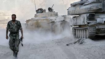 Syrische Truppen haben an Schlagkraft eingebüsst.