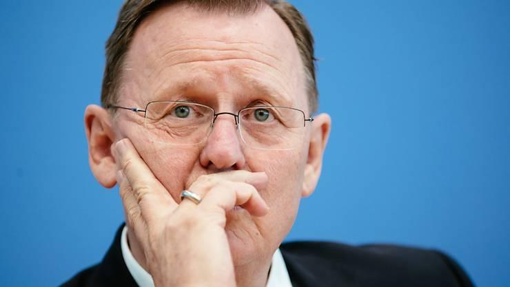 Der letztmalige Wahlgewinner Bodo Ramelow von der Partei Die Linke will wieder Ministerpräsident von Thüringen werden.