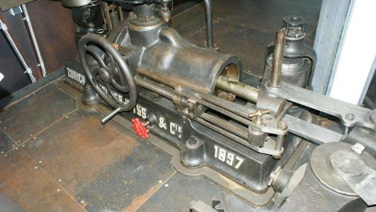 Hydraulikpumpe des Zürcher Unternehmens Escher-Wyss aus dem Jahr 1897