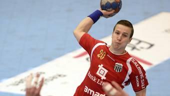 Kevin Jud steht mit Pfadi Winterthur in der 3. Qualifikationsrunde des EHC-Cup (Archiv)