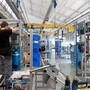 Blick in eine ABB-Werkstatt in Turgi AG.