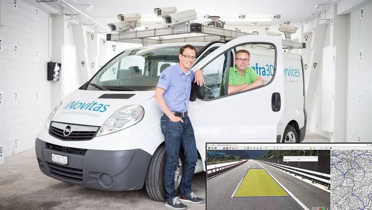 Mit dem Swiss Economic Award ausgezeichnete Aargauer Jungunternehmer: Hannes Eugster und Christian Meier, die beiden Chefs der Firma iNovitas