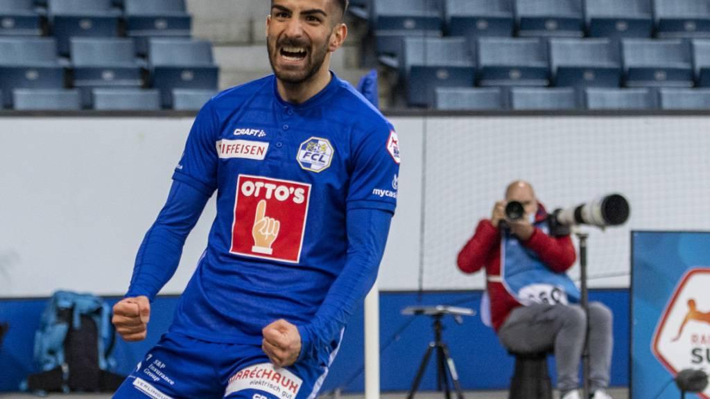 Varol Tasar freut sich über den Siegtreffer