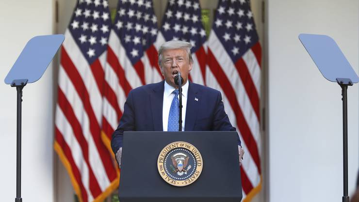Donald Trump bei seiner Ansprache an die Nation. (Bild: Keystone)