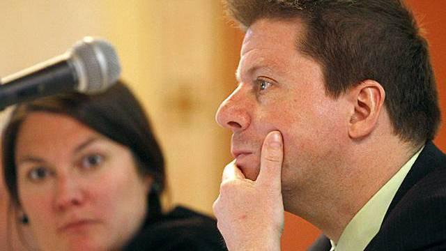 Parteipräsident Martin Bäumle (rechts)