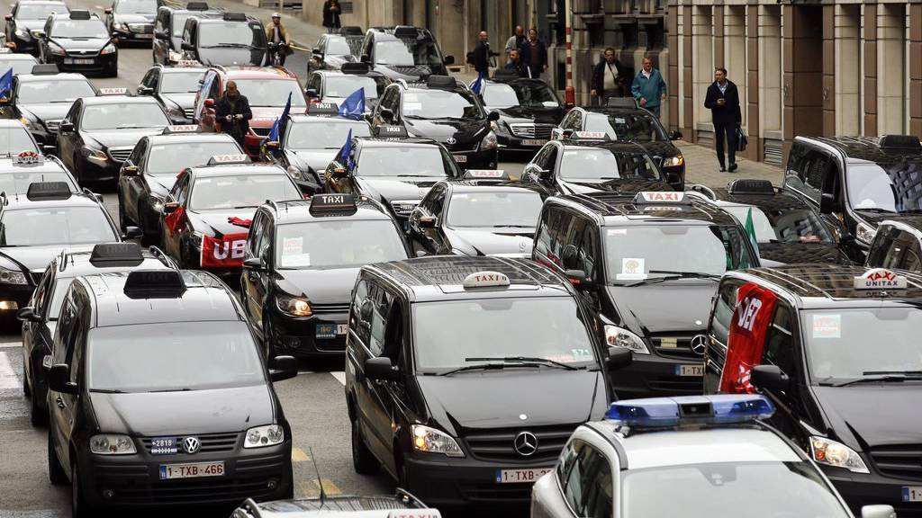 Taxistreik in Belgien