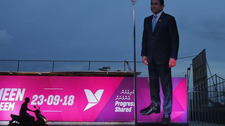 Der ehemalige Präsident der Malediven, Abdulla Yameen, verlor vor rund einem Jahr überraschend die Präsidentschaftswahl. Nun wurde er der Geldwäscherei schuldig gesprochen. (Archivbild)