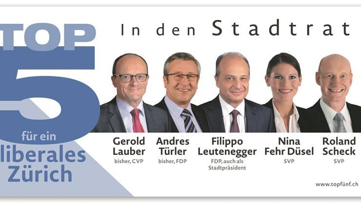 Von Mitte bis Rechts: die fünf Gesichter der bürgerlichen Parteien für den Stadtratswahlkampf