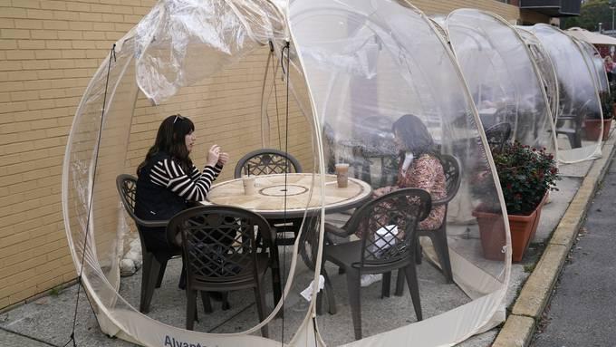 Ein Provisorium für ein Café in New Jersey. (Archiv)