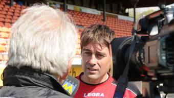 Im Mittelpunkt: Aaraus neuer Trainer René Weiler im Interview mit Tele M1.  Alexander Wagner