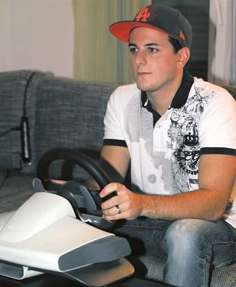 Im Formel-1-Xbox-Game läuft es Leimer nicht so gut wie in der GP2.