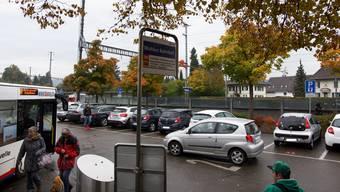 Der Bahnhof in Wohlen.