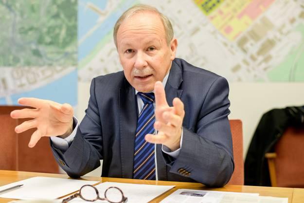 Hans-Peter Hadorn, Direktor der Schweizerischen Rheinhäfen: «Wir sind stolz und dankbar, die Migros bei uns zu haben.»