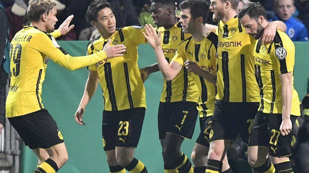 Christian Pulisic (3. von rechts) erzielte das erlösende 1:0