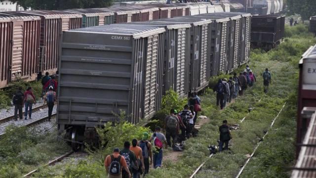 Migranten auf dem Weg zur US-Grenze in Mexiko (Archiv)