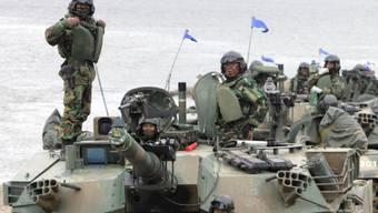 Südkorea und die USA haben gemeinsame Militärmanöver wegen des Coronavirus abgesagt. (Archivbild)