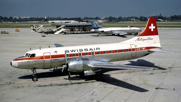 Eine Swissair-Maschine des Typs CV-440