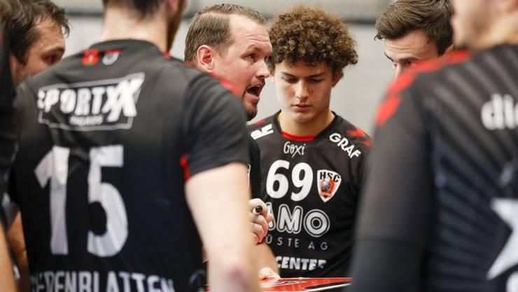 HSC-Coach Misha Kaufmann ist mit dem Spiel gegen den RTV Basel nur bedingt zufrieden.