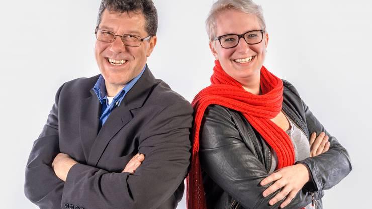 Die beiden Gemeinderatskandidaten Willi Stadler und Jennifer Reinhardt