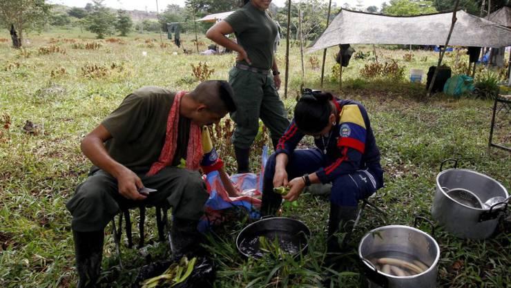 FARC-Lager in der Übergangszone: Die Guerillaorganisation entlässt über 50 Minderjährige ins Zivilleben.