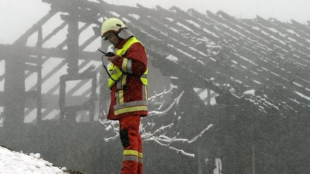 Noch ist die Ursache des Brandes in Steinerberg nicht geklärt