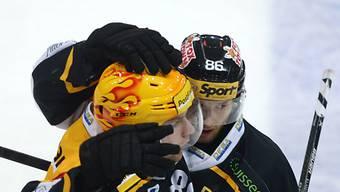 Pettersson (links) verwertete für Lugano den entscheidenen Penalty