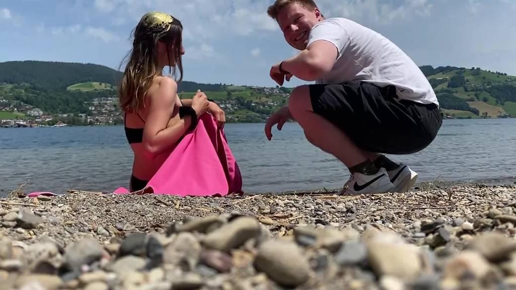 Challenge verloren: Sophie kriegt in Ägeri eine Tube Senf ins Haar