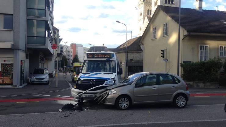 Ein beträchtliches Schadensbild zeigte sich an der Kreuzung Bleichmattstrasse/Zielgelfeldtrasse.
