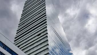 Basel Roche Turm von Aussen, vor der Eröffnung