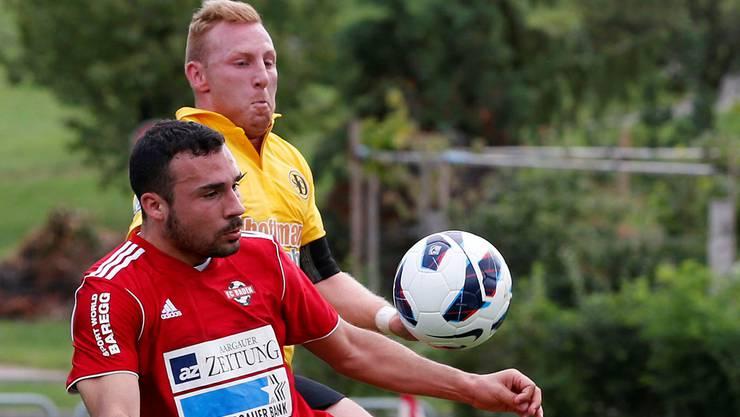 Einen Zähler erzittert: der FC Baden um Massimo Mancino (vorne).