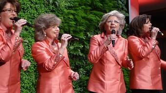 Margreth, Ruth, Marie-Louise und Dorli Biberstein sind mit viel «Härzbluet» bei der Sache.