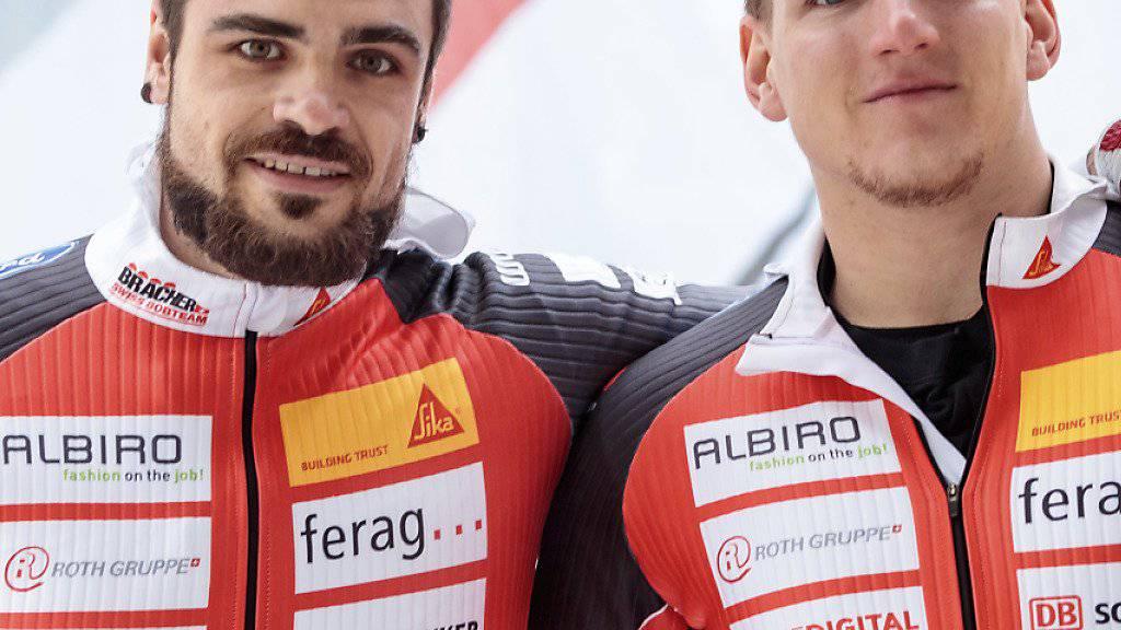 Wieder eine Topleistung: Clemens Bracher (links) und sein Anschieber Michael Kuonen
