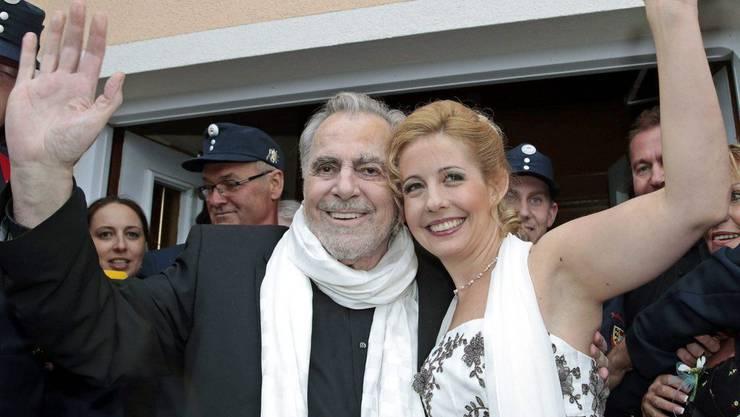 Sind jetzt verheiratet: Maximilian Schell und Iva Mihanoic
